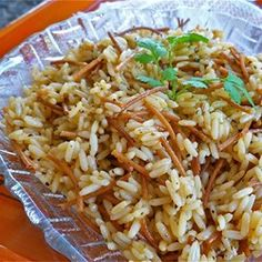 Ann's Rice Pilaf | Toasted pieces of pasta turn this side into something special.
