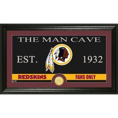 Washington Redskins The Man Cave Bronze Coin Panoramic Photo Mint