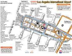 Airport Map of Building Exteriors and Roads