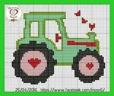 Fordson E27N Tractor counted cross stitch kit or chart 14s aida