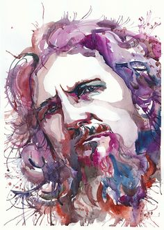 The Dude, Jeff Lebowski, The Big Lebowski, Watercolor painting,   illustration, Celebrity Portraits, art print,  living room decor