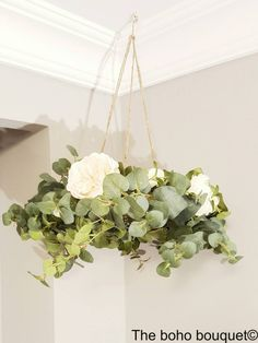 flower chandelier  wedding decor floral mobile by TheBohoBouquet