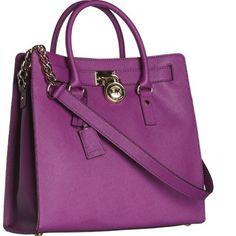 Purple Hamilton MK Handbag Beautiful color, very roomy. Barely been used Michael Kors Bags
