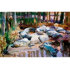 John Singer Sargent • Muddy Alligators, 1917