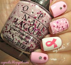 Breast Cancer Awareness Nail Art for Reasons. I write about them in my blog post. It's just a click away. Be aware. Get educated and get checked. Lives are saved when breast cancer is caught early and treated appropriately.