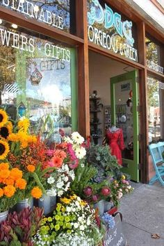 The Gorgeous and Green boutique when it was on San Pablo Ave, featured on Apartment Therapy's store profile.  Local and sustainably grown flowers, organic when possible, sustainable and eco-friendly gifts, cards and fun artsy things.  http://gorgeousandgreenevents.com