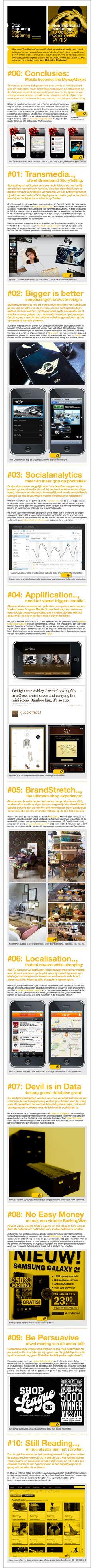 TrendTree®: De 10 Upcoming MarketingTrends in NL 2012. Laat je inspireren door 10 nieuwe mogelijkheden om je merk of bedrijf nog succesvoller te maken. Refresh!