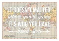 Wanderlust World Map Love Map Art Travel Quote by of life and lemons via Etsy