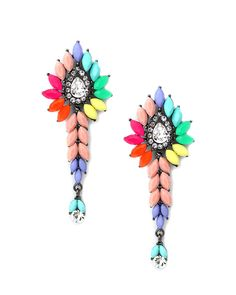 The Rainbow Road Drop Earrings - #rainbow #earrings - these are SO cool!!!