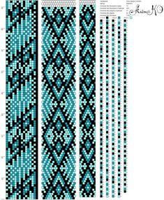 15 around tubular bead crochet rope pattern