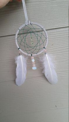 ROSE quartz, Prenhite , Opal Dream cat her Lunar Lily Creations https://www.etsy.com/listing/257724138/prenhite-rose-quartz-opal-dream-catcher