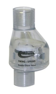 "Valterra 200-C05F PVC Swing/Spring Combination Check Valve, Clear, 1/2"" FPT with fast, FREE Shipping    #carscampus #sale #shop #cars #car #campus"
