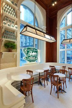 Best Coffee Shops in New York City - New York Coffee, Ralph's Cafe Architecture Restaurant, Hotel Restaurant, Restaurant Design, Restaurant Interiors, Commercial Architecture, Coffee Shop New York, Local Coffee Shops, Best Coffee Shops Nyc, Weekend New York