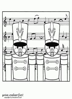 Free Nutcracker soldier Printables | nutcracker soldiers for Christmas | Print. Color. Fun! Free printables ...