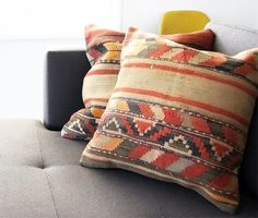 Have had a thing for these cushions since Friday. $98 each. I think I need two to make them work.... I originally thought they were Aztec, turns out they're from Turkey.