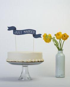 Banner Cake Topper