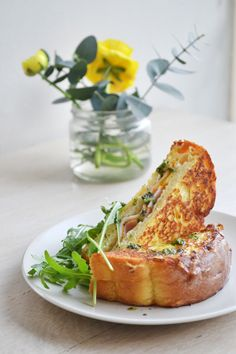 savory french toast stuffed with turkey and cheese