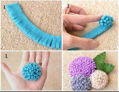 """diy_crafts- Felt flower tutorial """"How to make pretty decoration flowers step by step DIY tutorial instructions"""", """"Easy DIY Felt Crafts, Felt C Kids Crafts, Felt Crafts, Fabric Crafts, Sewing Crafts, Sewing Projects, Arts And Crafts, Kids Diy, Easy Crafts, Sewing Ideas"""