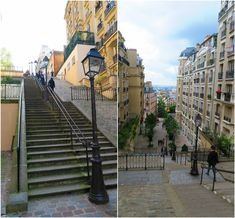 Gotta use the staircases to head up to Montmartre