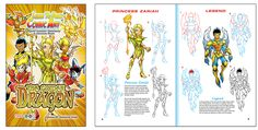 """Learn to Draw Comic Art """"The Golden Dragon"""" Purchase this book and many others at: www.freeze-dna.com   #thegoldendragon #freezedna"""