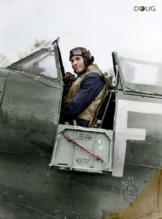 Group Captain Adolph 'Sailor' Malan - Spitfire Mk.IX - RAF 611. Squadron - Biggin Hill, Jan. '43 (this Spit. FY-F BS435, belonged to S/L Hugo 'Sinker' Armstrong)