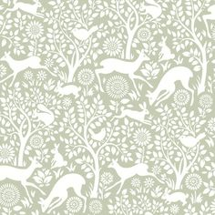 Brewster Home Fashions Hide and Seek Anahi Forest Fauna x Wildlife Embossed Wallpaper Color: Light Gray Wallpaper Color, Tier Wallpaper, Beige Wallpaper, Embossed Wallpaper, Wallpaper Samples, Animal Wallpaper, Dinosaur Wallpaper, Wildlife Wallpaper, Forest Wallpaper
