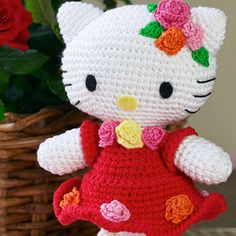 Lovely Red Dress Hello Kitty Amigurumi