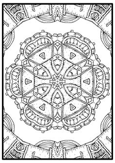 Get ready for your next adventure on coloring pages with this easy to color mandala design. Be prepared to evadet from your day to day stres by filing every space of tis free sheet with the color of your beautful mind