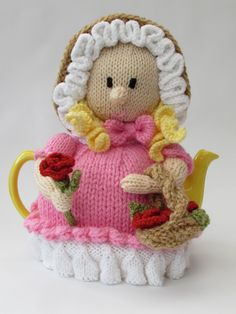 TeaCosyFolk's Victorian Flower Girl Tea Cosy in the Simply Knitting Magazines 'Your Knits for Autumn' pattern booklet; on sale now! http://www.teacosyfolk.co.uk/Victorian-Flower-Girl-Tea-cosy-p-130.php
