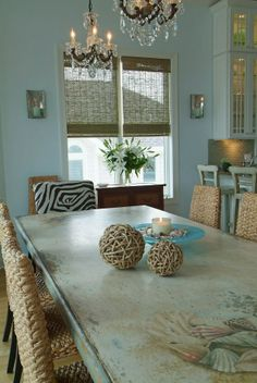 Cool hand painted dining table