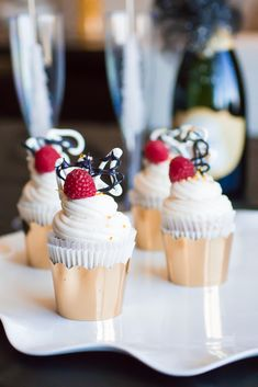 Raspberry Champagne Cupcakes with Champagne Buttercream Frosting