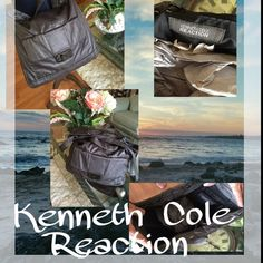 """Beautiful and do large Kenneth Cole tote This Kenneth Cole is so large and roomy! 100% nylon fabric!!! Super classy and clean and ready for anything  top to bottom 13"""" size to side 14"""" and shoulder strap for cross body wear Kenneth Cole Reaction Bags Totes"""