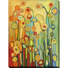 FramedArt.com Jennifer Lommers 'Dance Of The Flower Pods' Giclee Print Wall Art