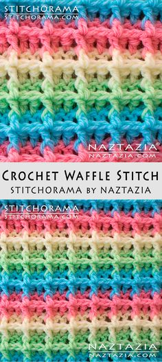 Crochet Waffle Stitch Stitchorama by Naztazia Free Pattern & DIY Tutorial YouTube Video by Donna Wolfe