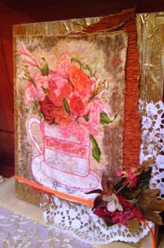 mixed media on wood. Decorative Items, Mixed Media, Wood, Painting, Art, Art Background, Decorative Objects, Woodwind Instrument, Timber Wood