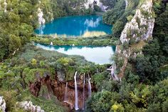 Plitvice Lakes Waterfalls and Lakes by pics721, via Flickr