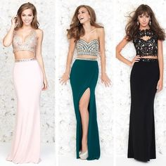 #TrendsToTry: Have you checked out our one-stop-crop-shop? ☝️Two pieces are better than one! Click the link in our profile to shop this hot trend for #Prom2015! #croptop #croptillyoudrop #promdress #prom #trending #uniqueprom