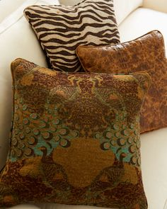 Safari Accent Pillows by Old Hickory Tannery at Horchow.