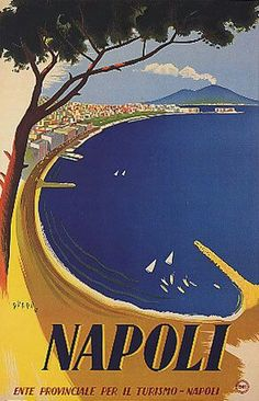 Vintage Italy Napoli Travel Poster went there in summer awsome trip Tourism Poster, A4 Poster, Poster Prints, Poster Wall, Vintage Italian Posters, Vintage Travel Posters, Travel Ads, Travel And Tourism, Photo Vintage
