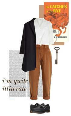 """""""but i read a lot"""" by hatecraft on Polyvore featuring moda, Oris, Miu Miu, River Island, Dr. Martens, Rochas i Thirstystone"""