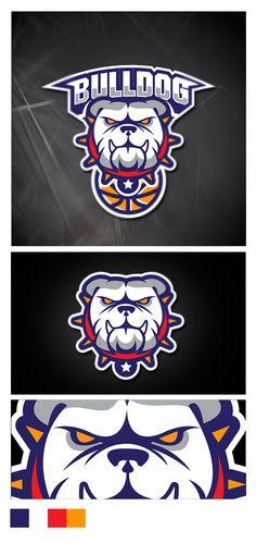 Sport Logo Bulldog Basketball