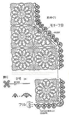How to link openwork crochet jacket 3 of 5 * molto interessante perchè ha schema modello e le mezze piastrelle! * How to link openwork crochet jacket 3 of 5 * very interesting because it has a pattern and half tiles! Shawl Crochet, Gilet Crochet, Crochet Motifs, Crochet Jacket, Crochet Diagram, Crochet Blouse, Crochet Chart, Crochet Squares, Crochet Cardigan Pattern