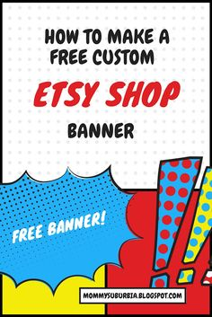 How to make a free custom shop banner for your Etsy shop! Tutorial and screen shots help explain how to do this using Canva.com! Awesome!