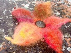 Brooches Handmade, Vintage Brooches, Felt Gifts, Mothers Love, Flowers In Hair, Unisex, Hippie Boho, Hair Pins, Wax