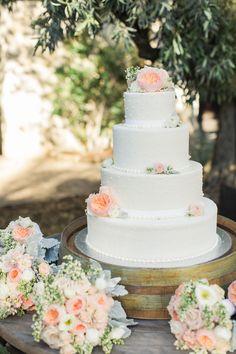 #cake  Photography: Carlie Statsky - www.carliestatsky.com  Read More: http://www.stylemepretty.com/2014/11/21/rustic-elegance-at-holman-ranch/