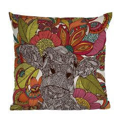DENY Designs // Valentina Ramos Arabella And The Flowers Throw Pillow