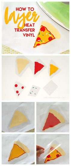 How to layer heat transfer vinyl - A girl and a glue gun