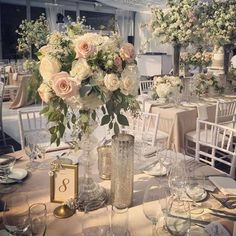 Woodland wedding theme in the glass pavilion at Casa Loma Toronto, Canada // Rachel A. Tall Wedding Centerpieces, Wedding Table Centerpieces, Wedding Table Settings, Wedding Reception Decorations, Floral Centerpieces, Floral Arrangements, Wedding Ideas, Centrepieces, Floral Wedding