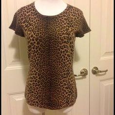 Saks Fifth Tops - Leopard print 100% cashmere. Sooo soft