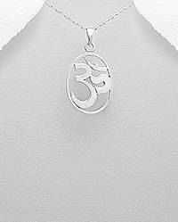 Sterling Silver Om Necklace by SesCapricesJewelry on Etsy